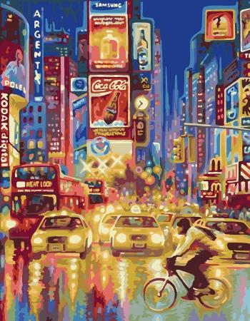 Картина по номерам Нью-Йорк