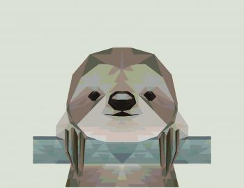 Картина по номерам Ленивец Из Многоугольников